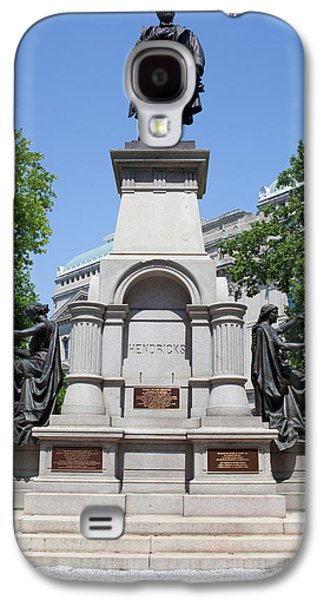 Governor Thomas A. Hendricks Monument Galaxy S4 Case by Panoramic Images