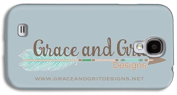 Grace And Grit Logo Galaxy S4 Case by Elizabeth Taylor