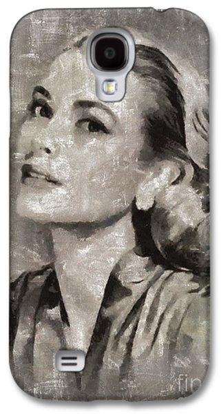 Grace Kelly Galaxy S4 Case - Grace Kelly By Mary Bassett by Mary Bassett