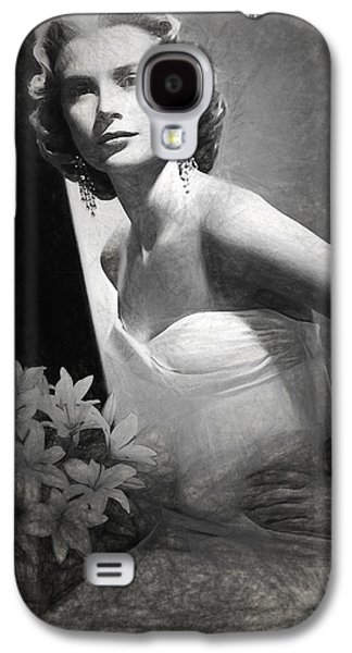 Grace Kelly Drawing Galaxy S4 Case by Quim Abella