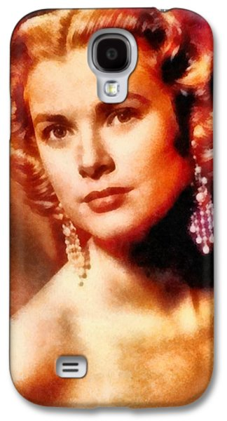 Grace Kelly, Vintage Hollywood Actress Galaxy S4 Case by Frank Falcon