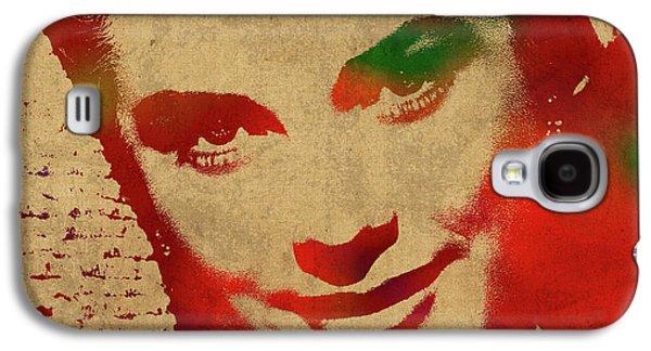 Grace Kelly Watercolor Portrait Galaxy S4 Case by Design Turnpike