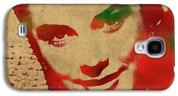 Grace Kelly Galaxy S4 Case - Grace Kelly Watercolor Portrait by Design Turnpike