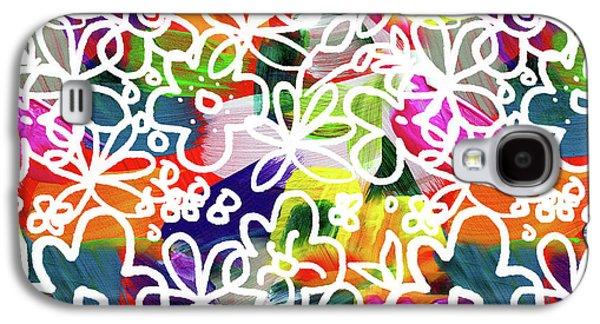 Graffiti Garden 2- Art By Linda Woods Galaxy S4 Case