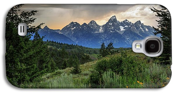 Galaxy S4 Case featuring the photograph Grand Stormy Sunset by David Chandler