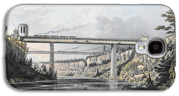 Grand Trunk Railway Of Canada  The Victoria Bridge Galaxy S4 Case by S Russell