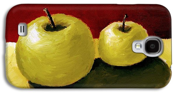 Cutouts Galaxy S4 Cases - Granny Smith Apples Galaxy S4 Case by Michelle Calkins