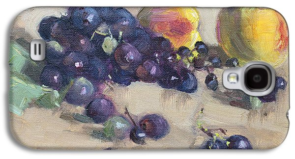 Peach Galaxy S4 Case - Grape And Peach by Ylli Haruni