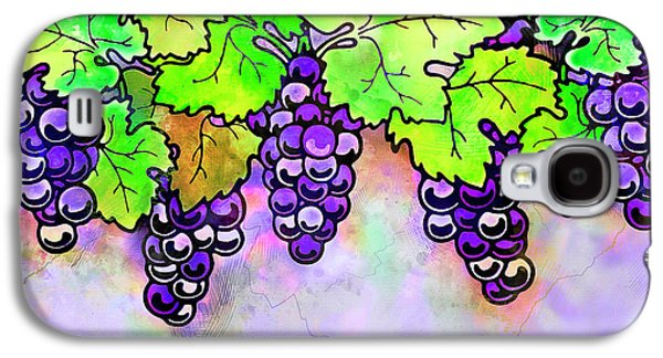 Purple Grapes On The Vine - Vintage Wine Harvest - 1 In A Series Galaxy S4 Case by Rayanda Arts
