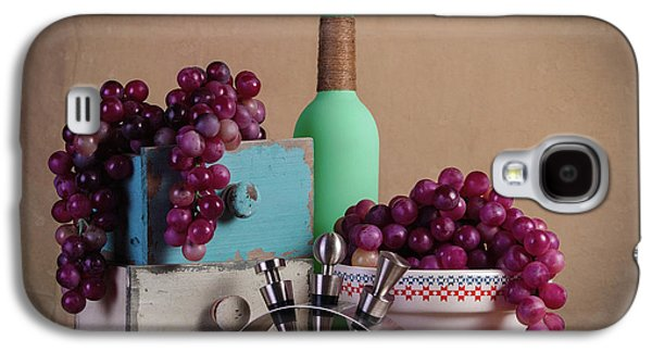 Grapes With Wine Stoppers Galaxy S4 Case by Tom Mc Nemar