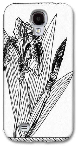 Graphic Iris Galaxy S4 Case by Masha Batkova