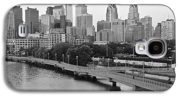 Grayscale Philly Skyline Galaxy S4 Case