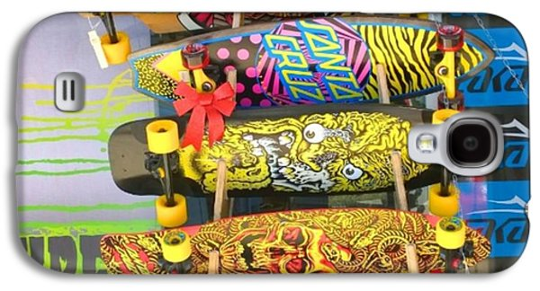 Design Galaxy S4 Case - Great Art On These Skateboards! by Shari Warren