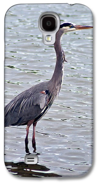 Galaxy S4 Case featuring the photograph Great Blue Heron by Bill Barber