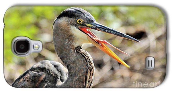 Great Blue Heron Tongue Galaxy S4 Case