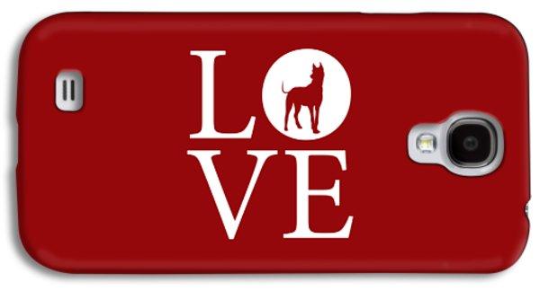 Great Dane Love Red Galaxy S4 Case by Nancy Ingersoll