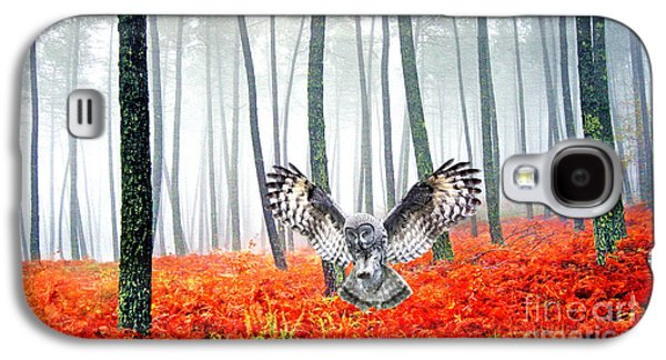 Owl Galaxy S4 Case - Great Grey Owl by Laura D Young