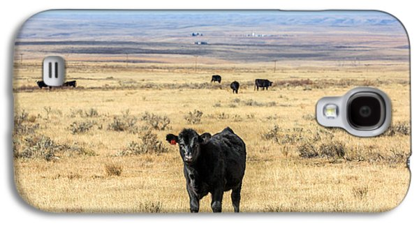 Great Plains Steer Galaxy S4 Case by Todd Klassy