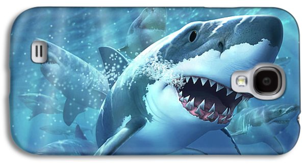 Sharks Galaxy S4 Case - Great White Shark by Jerry LoFaro