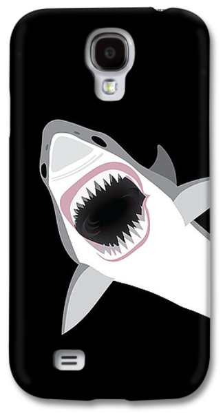 Sharks Galaxy S4 Case - Great White Shark by Antique Images