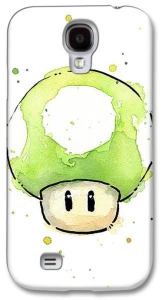Green 1up Mushroom Galaxy S4 Case by Olga Shvartsur
