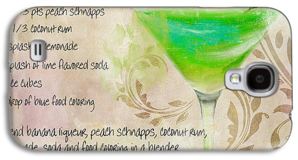Green Angel Mixed Cocktail Recipe Sign Galaxy S4 Case by Mindy Sommers