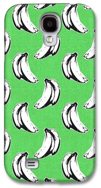 Banana Galaxy S4 Case - Green Bananas- Art By Linda Woods by Linda Woods