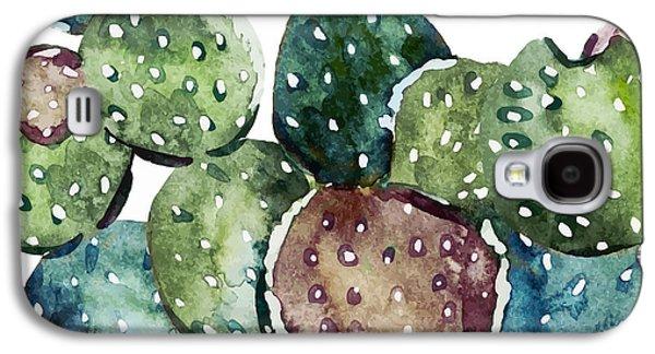 Green Cactus  Galaxy S4 Case by Mark Ashkenazi