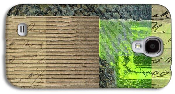Green Collage No. 6 Galaxy S4 Case by Nancy Merkle