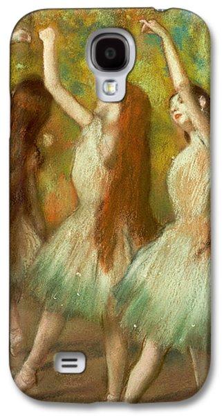 Green Dancers Galaxy S4 Case by Edgar Degas
