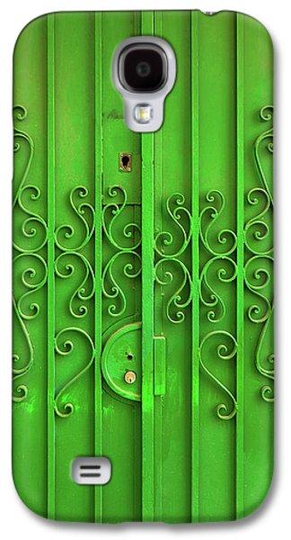 Green Door Galaxy S4 Case by Carlos Caetano