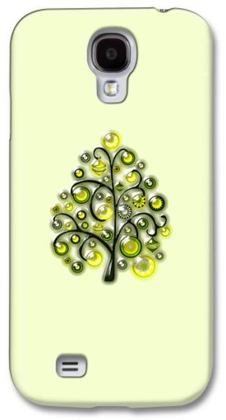 Green Glass Ornaments Galaxy S4 Case by Anastasiya Malakhova