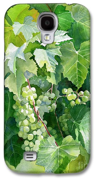 Green Grapes And Leaves Galaxy S4 Case by Sharon Freeman