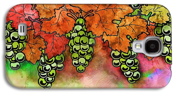 Green Grapes On The Vine - Vintage Wine Harvest - 2 In A Series Galaxy S4 Case by Rayanda Arts