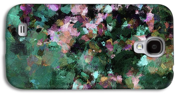 Green Landscape Painting In Minimalist And Abstract Style Galaxy S4 Case by Ayse Deniz