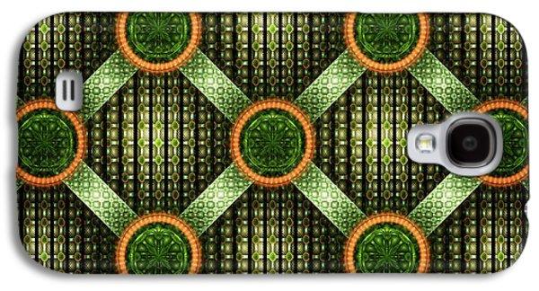 Green - Pattern - Fractal Galaxy S4 Case