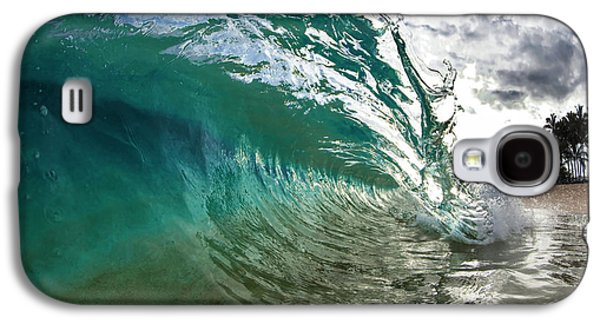 Green Shimmer Galaxy S4 Case by Sean Davey