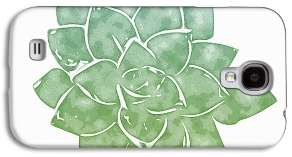 Green Succulent 1- Art By Linda Woods Galaxy S4 Case by Linda Woods