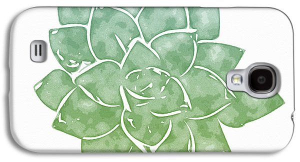 Green Succulent 1- Art By Linda Woods Galaxy S4 Case