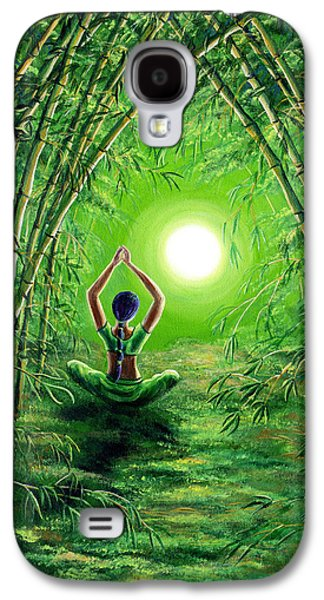 Green Tara In The Hall Of Bamboo Galaxy S4 Case by Laura Iverson