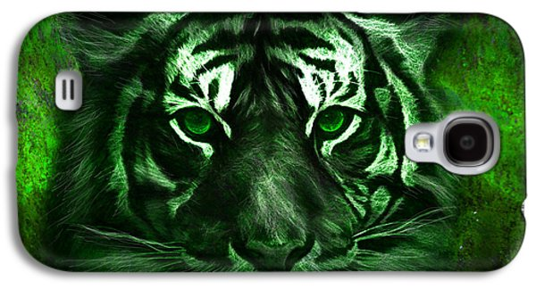 Green Tiger Galaxy S4 Case by Michael Cleere