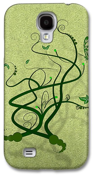 Green Vine And Butterfly Galaxy S4 Case by Svetlana Sewell