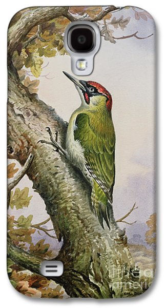 Green Woodpecker Galaxy S4 Case by Carl Donner