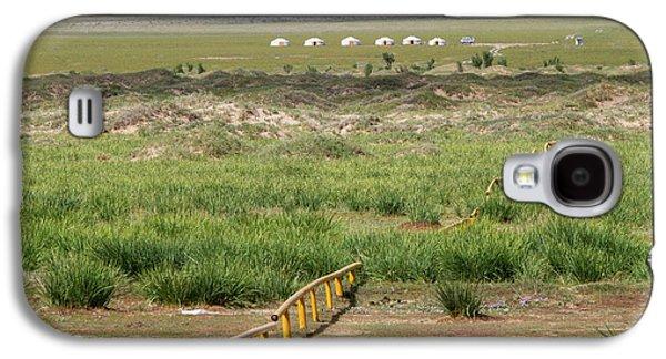 Galaxy S4 Case featuring the photograph Greenery In Desert, Gobi, 2016 by Hitendra SINKAR