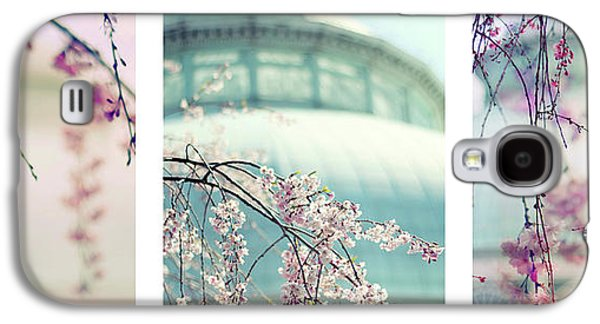 Galaxy S4 Case featuring the photograph Greenhouse Blossoms Triptych by Jessica Jenney