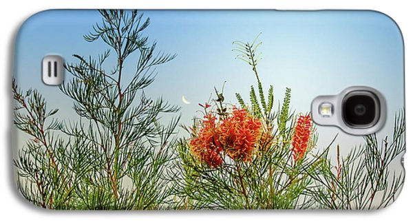 Grevillea With Moon Galaxy S4 Case