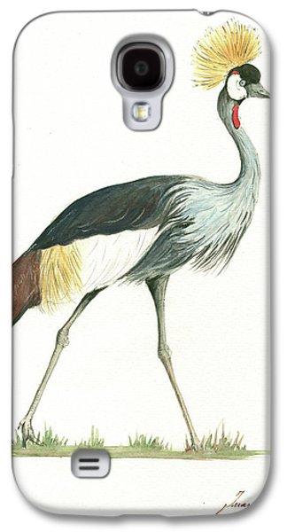 Crane Galaxy S4 Case - Grey Crowned Crane by Juan Bosco