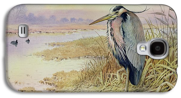 Grey Heron Galaxy S4 Case by John James Audubon
