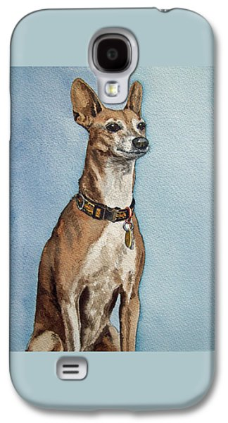 Greyhound Commission Painting By Irina Sztukowski Galaxy S4 Case