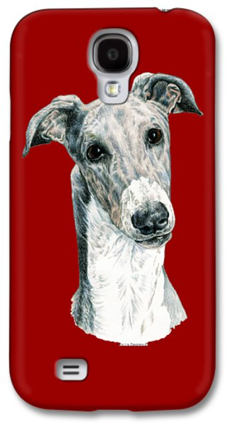 Greyhound Galaxy S4 Case by Kathleen Sepulveda